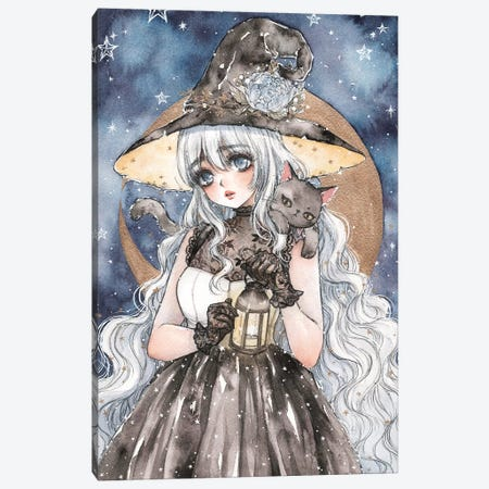 Starry Witch Canvas Print #CRK31} by Cherriuki Canvas Print