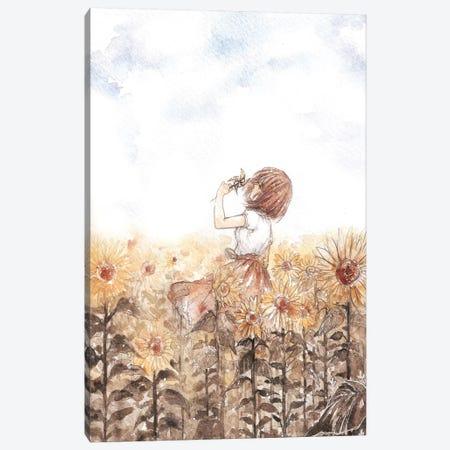 Sunflower Dreamer Canvas Print #CRK32} by Cherriuki Art Print
