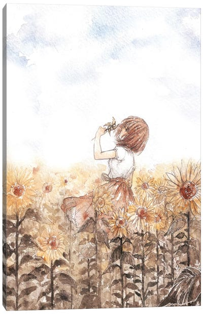 Sunflower Dreamer Canvas Art Print