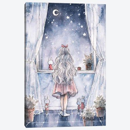 Wish Upon A Star Canvas Print #CRK39} by Cherriuki Canvas Print
