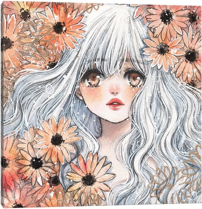 Autumn Flower Canvas Art Print