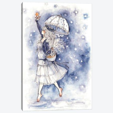 Catch A Falling Star Canvas Print #CRK8} by Cherriuki Canvas Wall Art