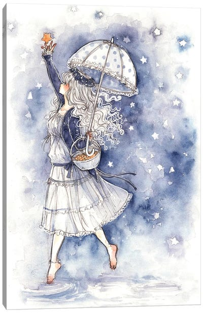 Catch A Falling Star Canvas Art Print