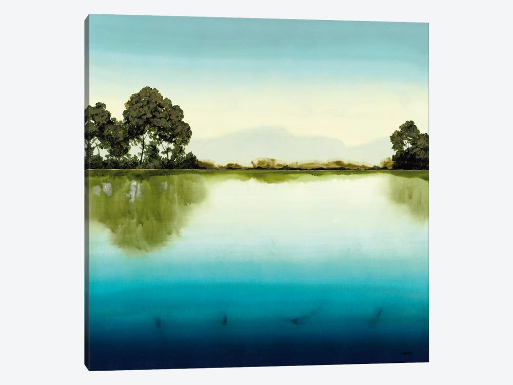 Azure Lake by Robert Charon 1-piece Canvas Wall Art