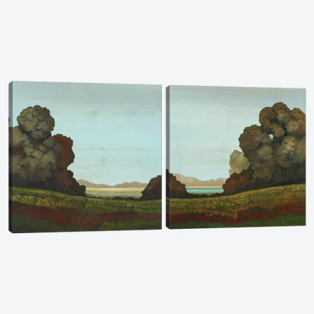 Distant Meadow Diptych Canvas Print Set #CRN2HSET002} by Robert Charon Canvas Print