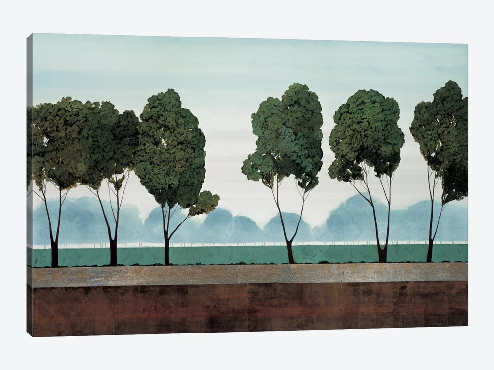Six Trees by Robert Charon 1-piece Canvas Wall Art