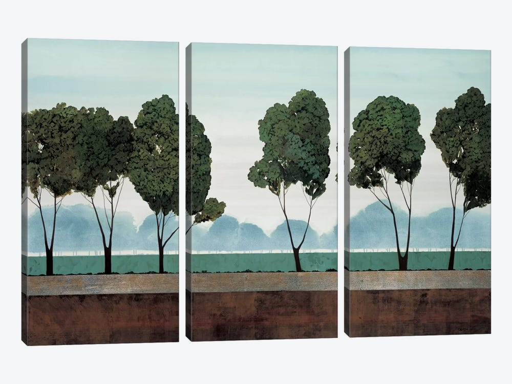 Six Trees by Robert Charon 3-piece Canvas Art