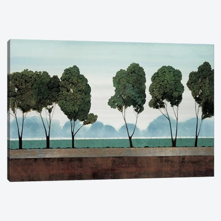 Six Trees 3-Piece Canvas #CRN7} by Robert Charon Canvas Art
