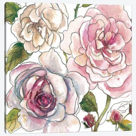 Floral Sketchbook Canvas Print #CRO1006} by Carol Robinson Art Print