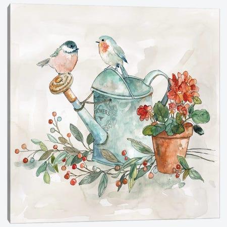 Garden Glimpse I Canvas Print #CRO1008} by Carol Robinson Canvas Wall Art
