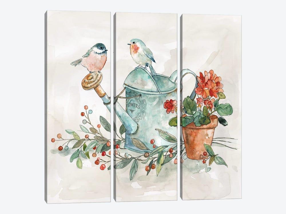 Garden Glimpse I by Carol Robinson 3-piece Art Print