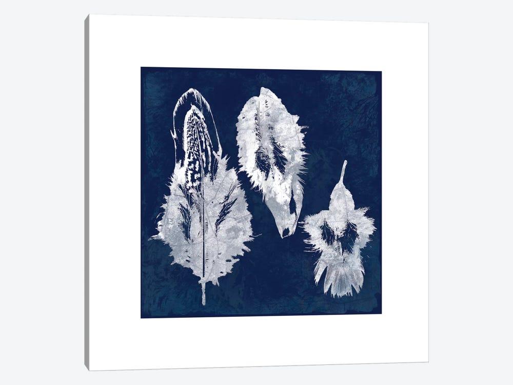 Cyanotype Feather I by Carol Robinson 1-piece Canvas Artwork