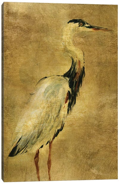 Gold Crane at Dusk I Canvas Art Print