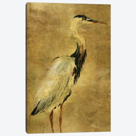 Gold Crane at Dusk I Canvas Print #CRO1014} by Carol Robinson Canvas Artwork