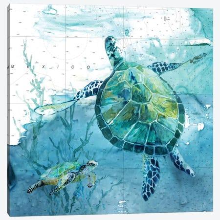 Island Swim II Canvas Print #CRO1023} by Carol Robinson Canvas Wall Art
