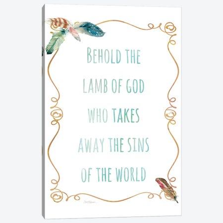 Religious Feather I Canvas Print #CRO1044} by Carol Robinson Art Print