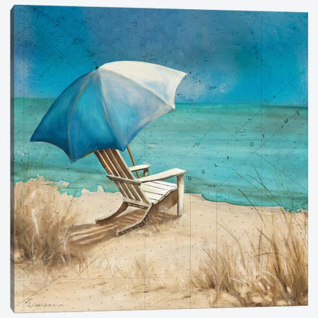 Retreat to the Beach I Canvas Print #CRO1046} by Carol Robinson Art Print