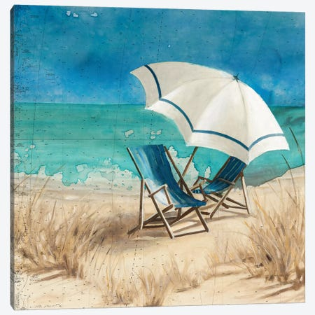 Retreat to the Beach II Canvas Print #CRO1047} by Carol Robinson Art Print