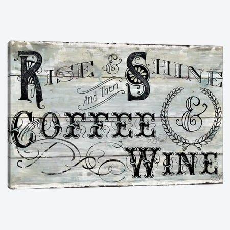 Rise Shine Wine 3-Piece Canvas #CRO1048} by Carol Robinson Canvas Wall Art