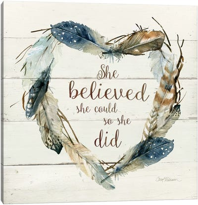 She Believed She Could Canvas Art Print