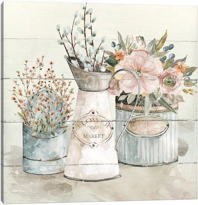 Shiplap Flower Market Canvas Art Print
