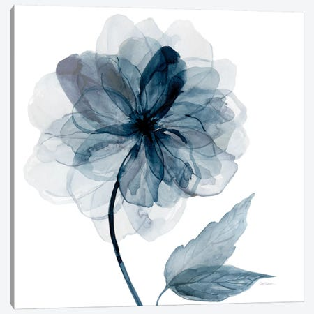 Indigo Bloom I 3-Piece Canvas #CRO105} by Carol Robinson Canvas Art Print