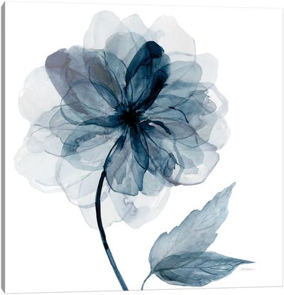 Indigo Bloom I Canvas Art Print