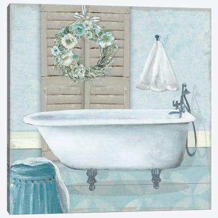 Teal Bath II Canvas Print #CRO1060} by Carol Robinson Canvas Wall Art