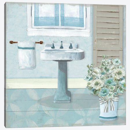 Teal Sink II Canvas Print #CRO1062} by Carol Robinson Canvas Wall Art