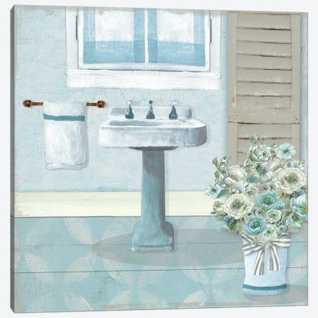 Teal Sink II Canvas Print #CRO1062} by Carol Robinson Canvas Wall Art