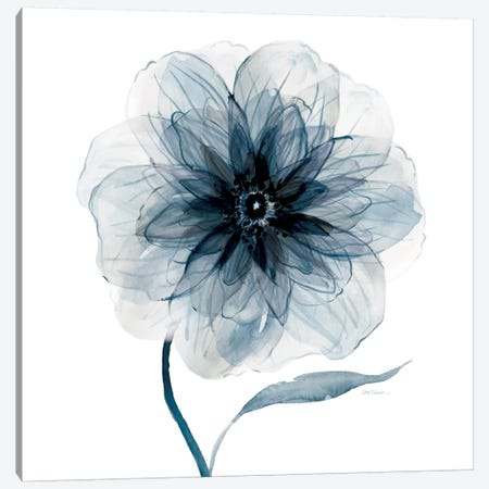 Indigo Bloom III 3-Piece Canvas #CRO107} by Carol Robinson Art Print