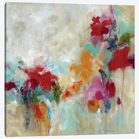 Spectrum Floral Canvas Print #CRO1094} by Carol Robinson Canvas Artwork