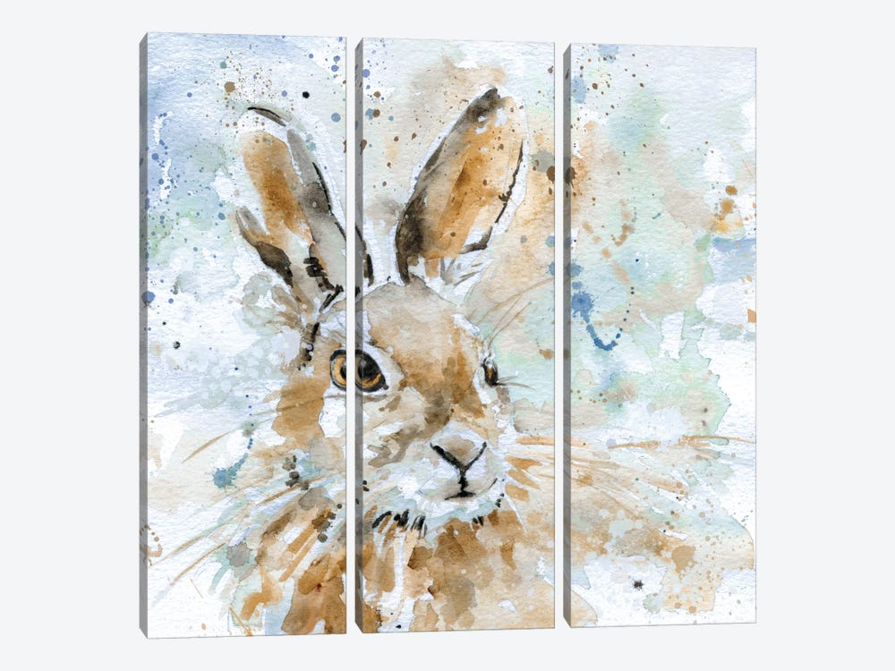 Hare by Carol Robinson 3-piece Canvas Artwork