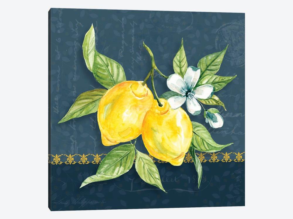 Blue Lemon Squeeze II by Carol Robinson 1-piece Canvas Art
