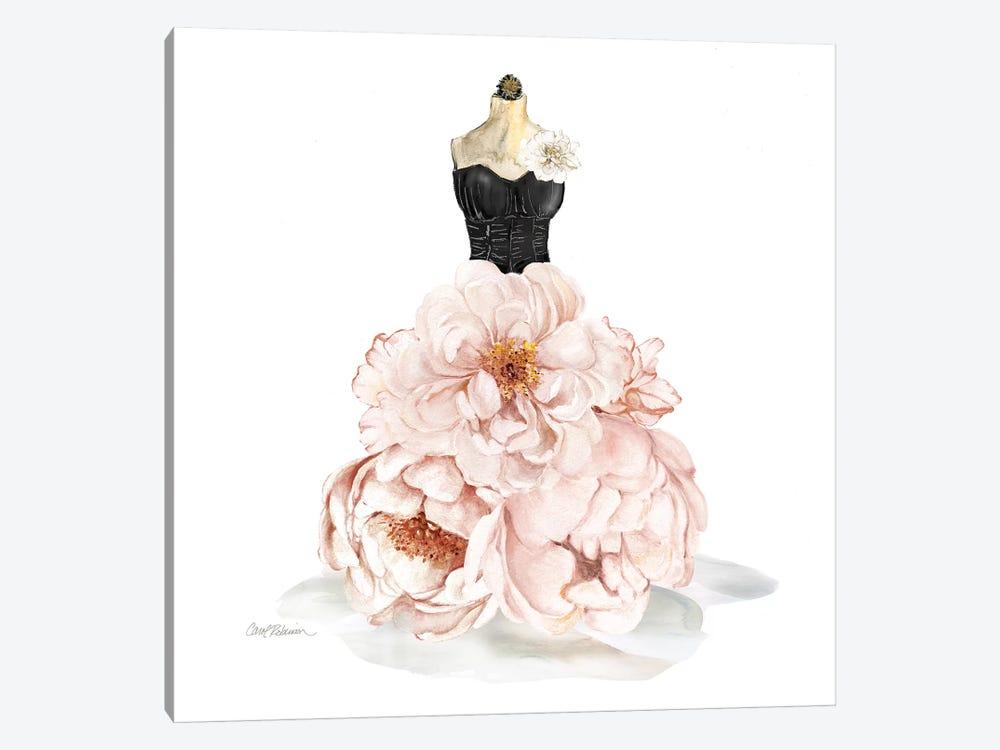 Floral Gown by Carol Robinson 1-piece Canvas Artwork