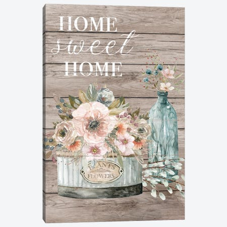Home Sweet Home 3-Piece Canvas #CRO1118} by Carol Robinson Canvas Wall Art