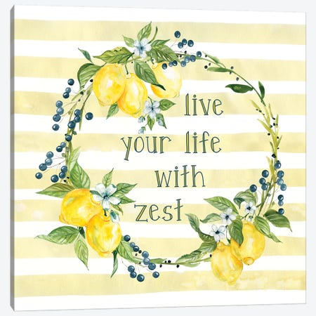 Life With Zest Canvas Print #CRO1120} by Carol Robinson Canvas Art Print