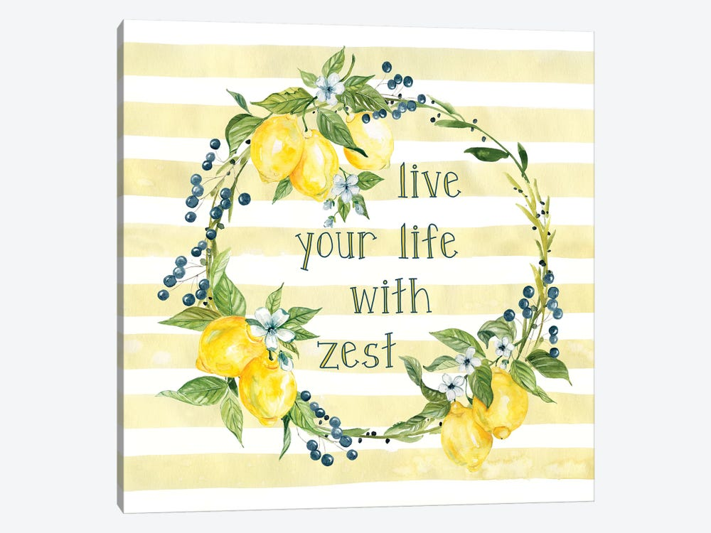 Life With Zest by Carol Robinson 1-piece Canvas Art