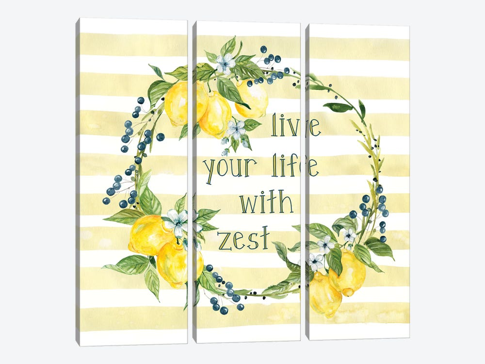 Life With Zest by Carol Robinson 3-piece Canvas Wall Art