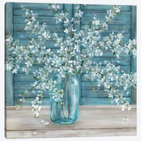 Shuttered Blossoms Canvas Print #CRO1137} by Carol Robinson Canvas Art Print