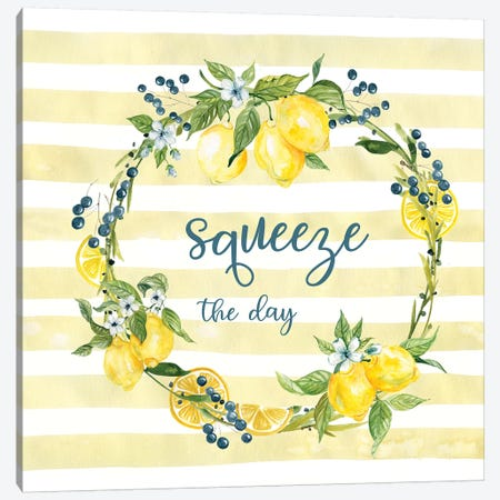 Squeeze The Day Canvas Print #CRO1138} by Carol Robinson Canvas Wall Art