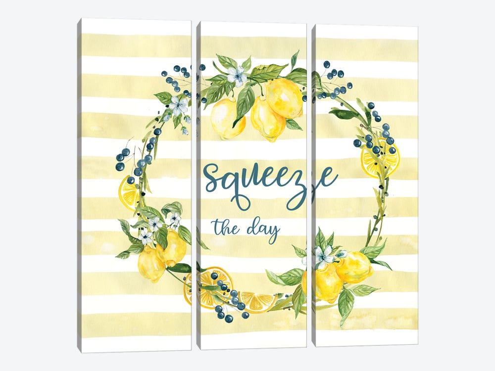 Squeeze The Day by Carol Robinson 3-piece Canvas Print