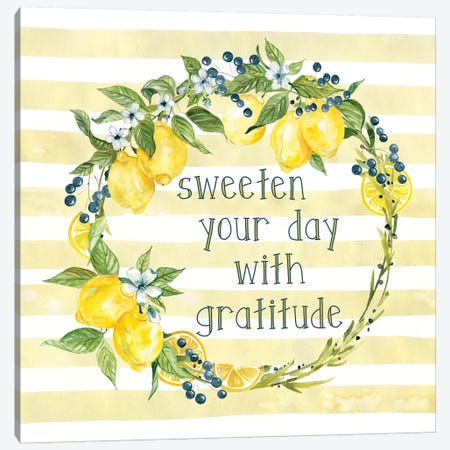 Sweeten Your Day Canvas Print #CRO1139} by Carol Robinson Canvas Wall Art