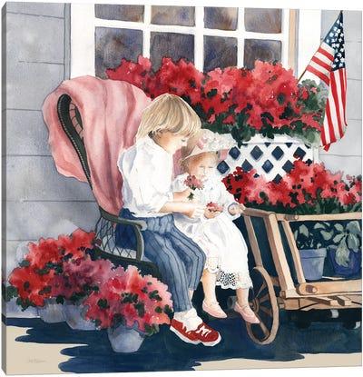 4th of July Parade Canvas Art Print