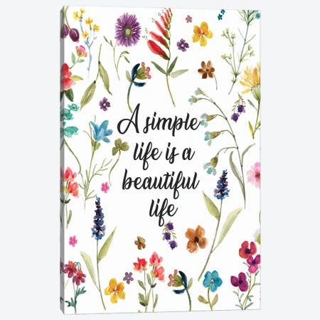 A Simple Life Canvas Print #CRO1162} by Carol Robinson Art Print