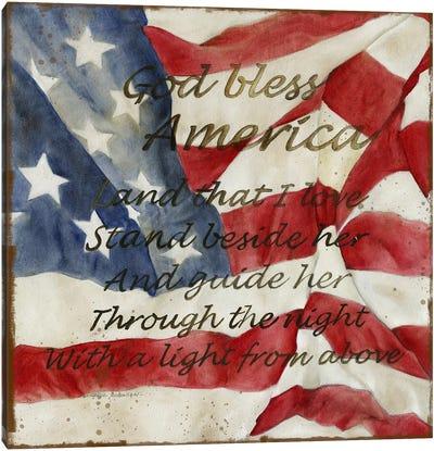 Bless America Canvas Art Print