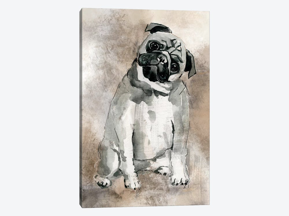 Pug by Carol Robinson 1-piece Canvas Artwork