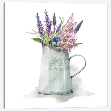 French Lavender Canvas Print #CRO1186} by Carol Robinson Canvas Artwork