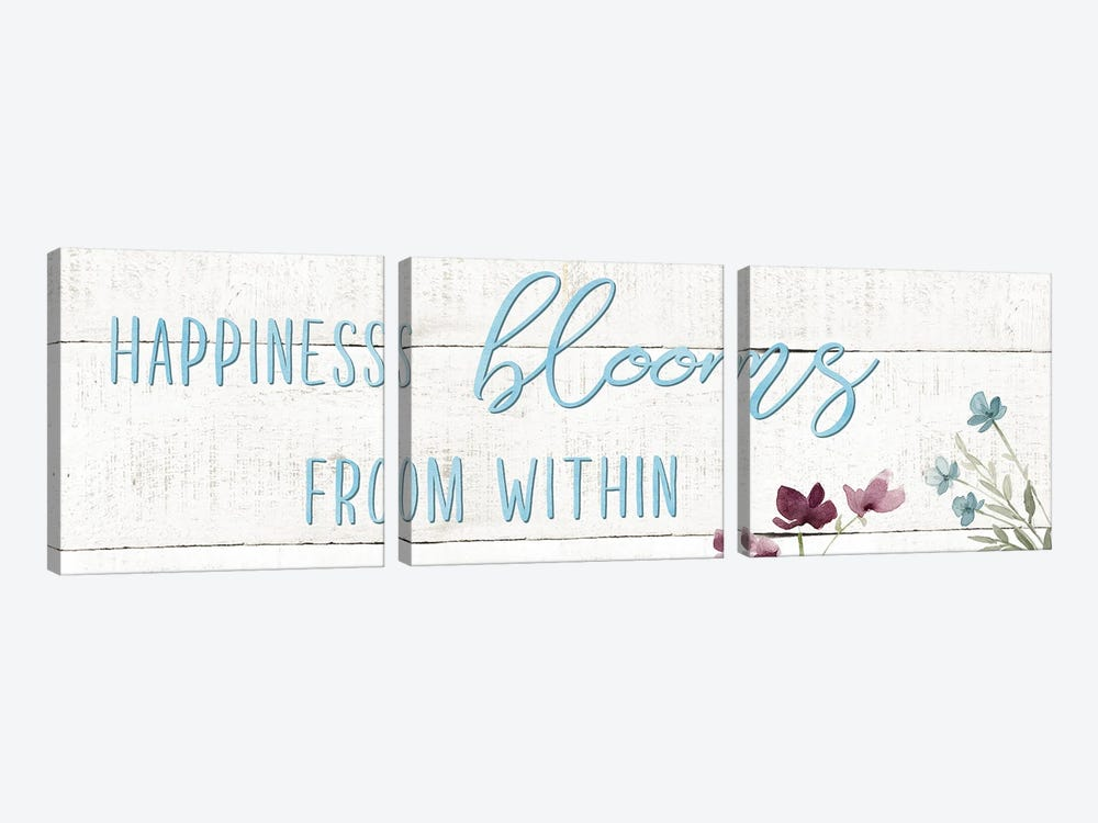 Happiness Blooms by Carol Robinson 3-piece Canvas Art Print