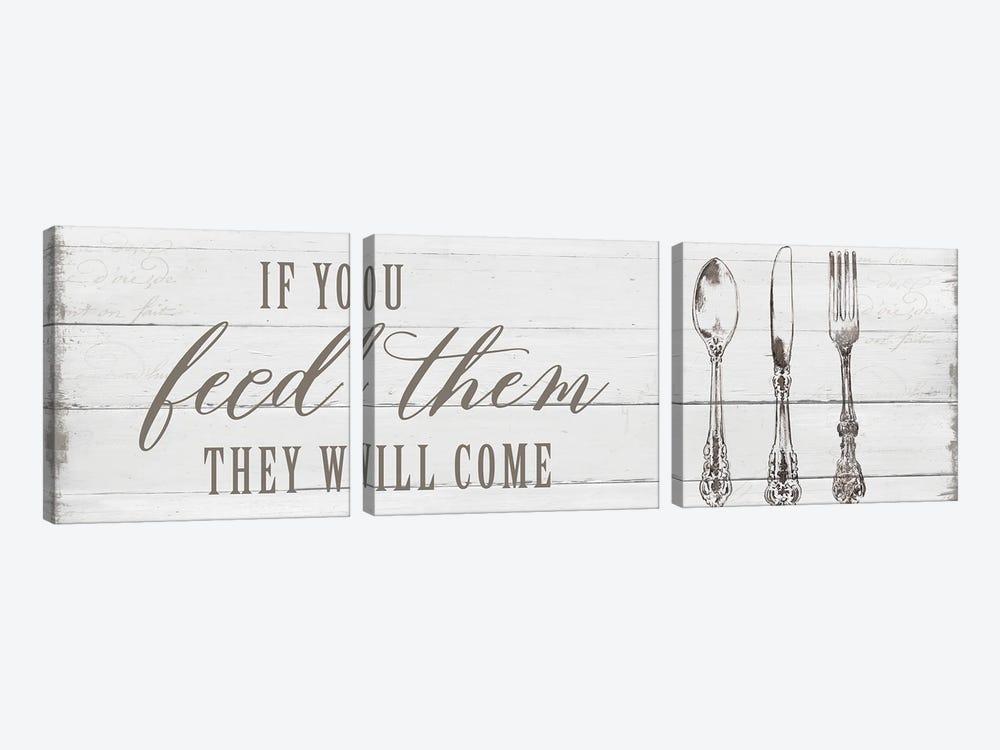 If You Feed Them by Carol Robinson 3-piece Canvas Wall Art